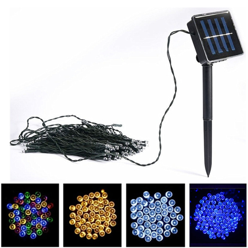 Solar Outdoor Waterproof LED Color Light String Full Of Stars Garden Christmas Holiday Wedding Party Decoration Lights