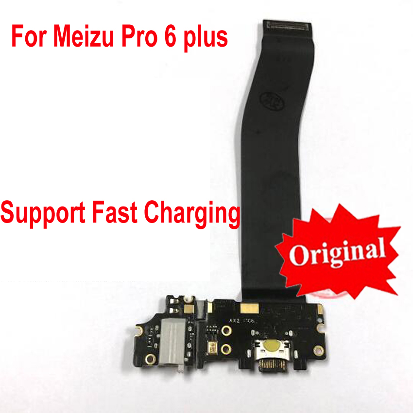 Original USB Charger Port Dock Board Flex Cable For Meizu Pro 6 Plus Pro6 Plus + Microphone Headphone Jack Audio Fast Charging