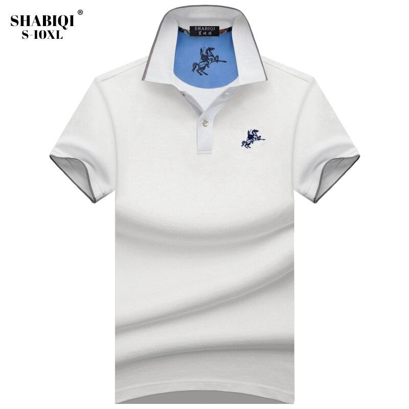 a594e3864e4fa SHABIQI Camisa Pólo Para Homens Polo Designer De Camisas dos homens do Polo  do Algodão dos