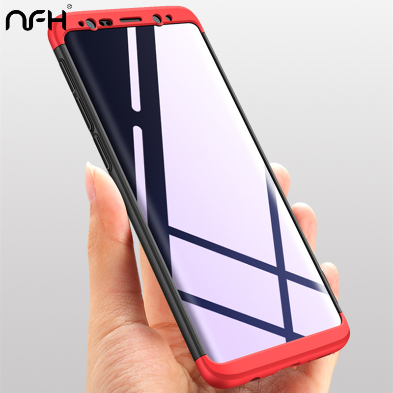Matte-Case S8-Plus Black Samsung S9 S7-Edge For Red 360-Degree Shockproof Fashion