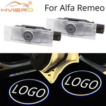 2X Welcome Light for Alfa Romeo Giulia Stelvio Car LED Door Projection Ambient light Auto Logo Lights Neon Lamp DC 12V