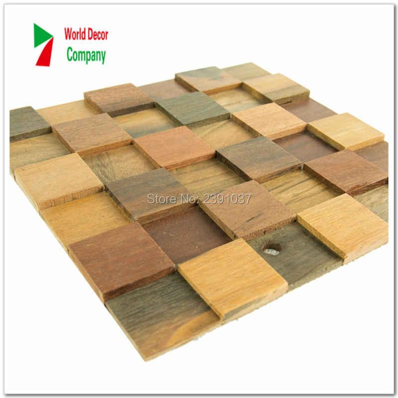 New 1 Box 11sheet Wood Kitchen Backsplash Wood Panel Floor Tiles Natural Wood Mosaic Laminates Wall Decor Fireplace Mosaic Mosaic Wood Floor Tiles Mosaic Floor Tilebacksplash Kitchen Tile Aliexpress