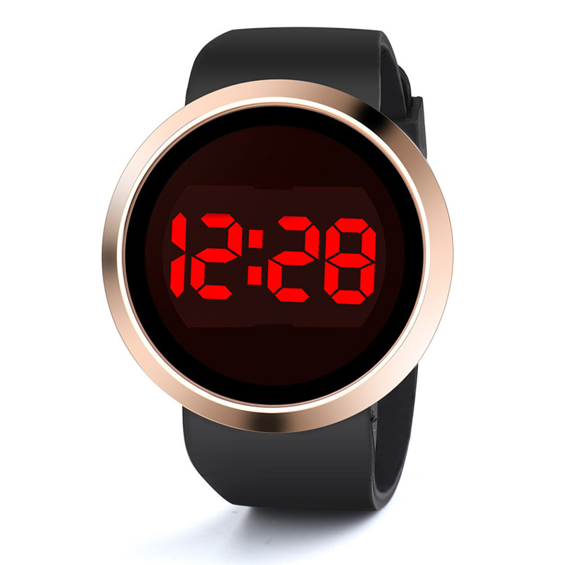Fashion Waterproof Mens LED Touch Screen Day Date Silicone Wrist Watch Men Wholesale #2AP18B