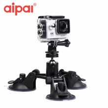 Aipal Accessories Triple Vacuum Suction Cup Car Windshield Fat Gecko Mount for Aipal Xiaomi Yi GoPro Hero 5 Action Camera.