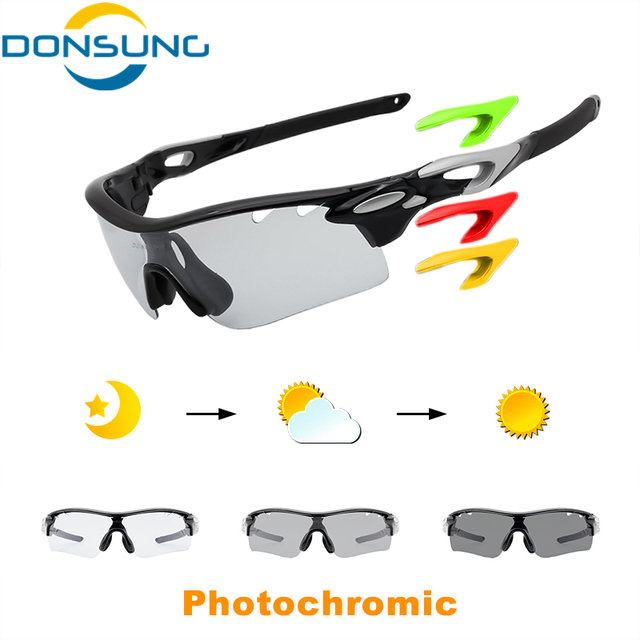 0ecf617420e DONSUNG Photochromic Polarized Cycling Glasses Outdoor Sport Sunglasses  3Lens Men Bicycle Riding UV400 TR90 Driving Bike Eyewear
