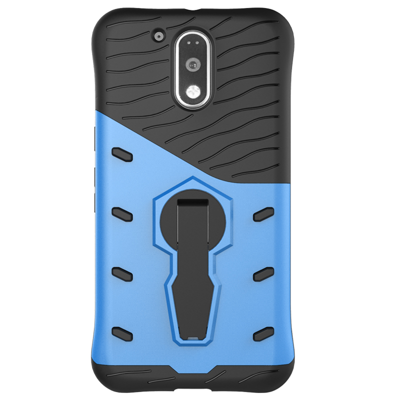 360 Degree Rotation Holder Case For Motorola Moto G4 Plus Play TPU+PC Prevent scratch Hybrid Armor Shockproof Stand Cover
