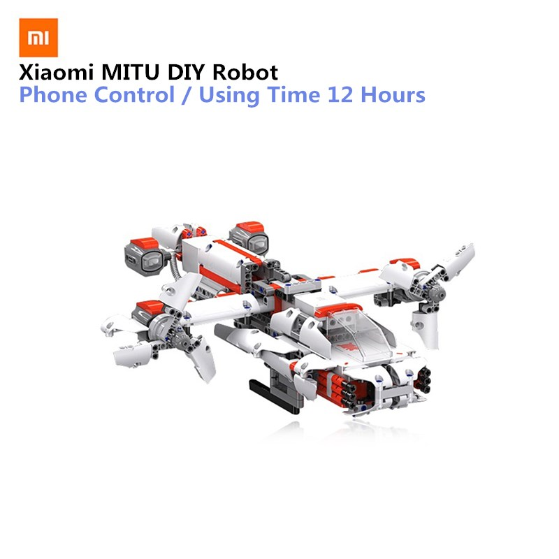 Xiaomi MITU Robot DIY Mobile Phone Control Self-assembled Robot Building kits Toys for Children STM32 CPU Cool Builder RobotXiaomi MITU Robot DIY Mobile Phone Control Self-assembled Robot Building kits Toys for Children STM32 CPU Cool Builder Robot