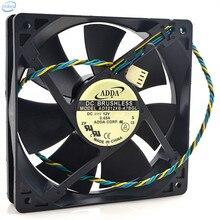 AD1212XB-A7BGL NEMÁTODO da MADEIRA DO PINHEIRO Controle de Temperatura Ventilador de Refrigeração DC 12 V 0.65A 12025 12 CM 120*120*25mm 4 fios