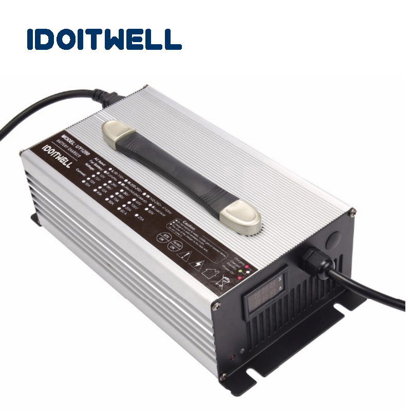 Customized 900W series <font><b>12V</b></font> 40A 24V 25A 36V 18A 48V <font><b>15A</b></font> 60V 12A 72V 10A 84V 8A <font><b>battery</b></font> <font><b>charger</b></font> with Voltage and current display image