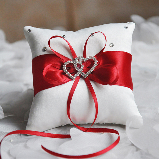 Rhinestones Ring Pillow