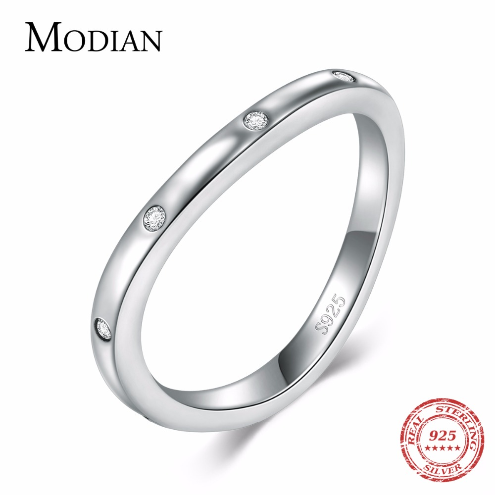 Modian Hot Sale Real 925 Sterling Silver Irregular Trendy Stackable Jewelry Simple Exquisite Wedding Anniversary For Women Gift