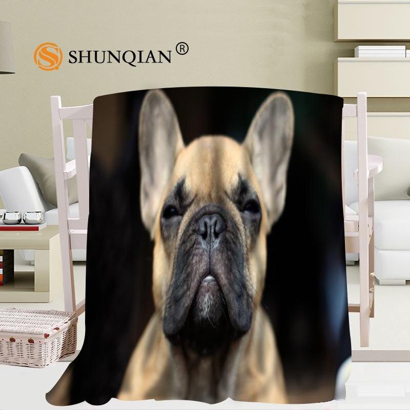 Custom big size French Bulldog Blankets for beds Falafel warm winter sleeping sofa blanket 58x80inch 50X60inch 40X50inch