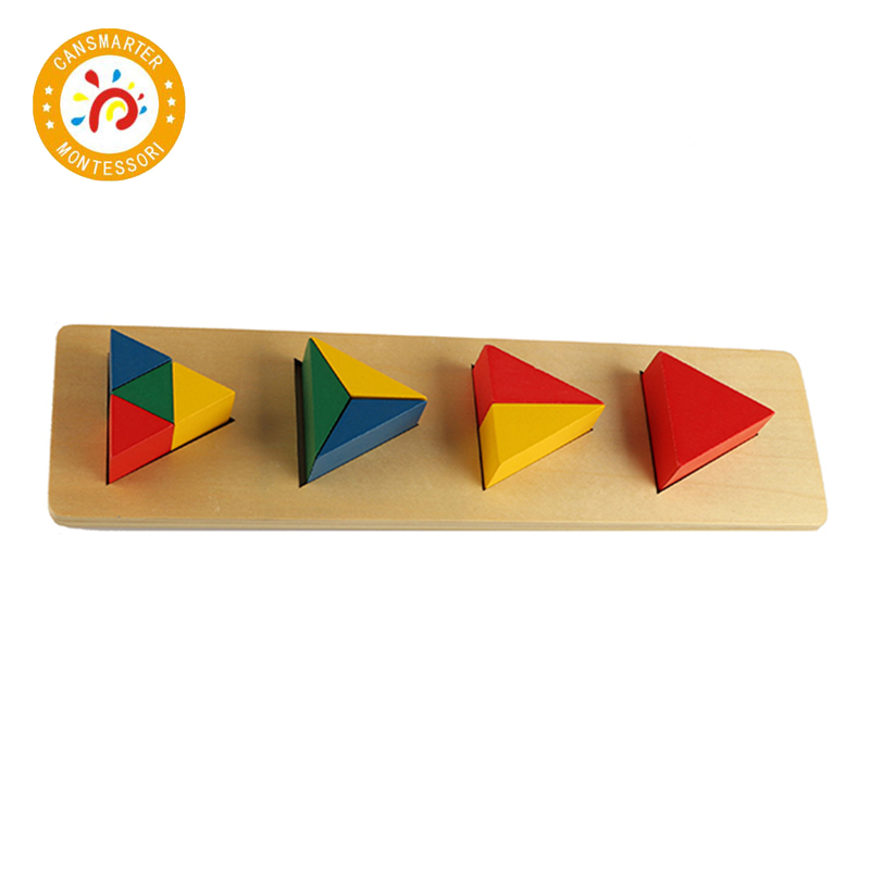 Montessori Kid High Quality Toy Multi-shapes Building Blocks For Early Education