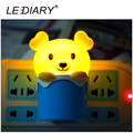 LEDIARY Cute Happy Bear LED Night Light/Lamp US/EU Plug LightSensor Control Christmas Decoration/Gift LED Baby Bedside Light