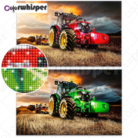 Diamond Painting Full Square/Round Tractor Country Life Good Harvest Daimond Painting Picture Cross Stitch Mosaic Crystal 558DP