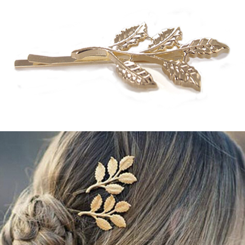 Beautiful Branches Leaves Bride Hairpin Side Folder Hair Styling Tools For Women