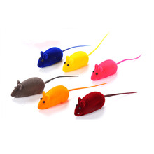1PCS Rabbit Fur False Mouse Pet Cat Toys Mini Funny Playing For Cats Kitten