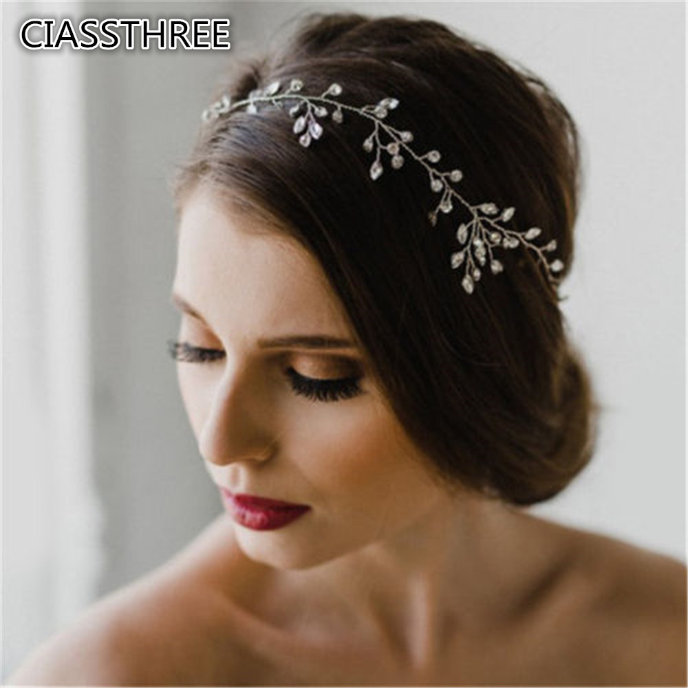 Women Bridesmaid Rhinestone Headband Handmade Bride font b Tiara b font Romantic Wedding Gift font b