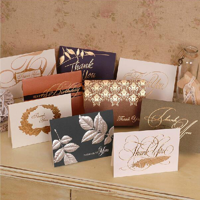 single page type greeting cards elegant thanksgiving day birthday christmas greeting gift card sent to