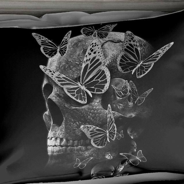 SKULL BUTTERFLY 3D BEDDING SETS