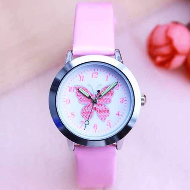 Fashion Brand Children's Watches Kids Quartz Watch Student Girls Quartz-watch Cu