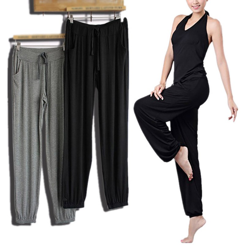 Women Loose   Pants   Casual Elastic Harem   Pants     Capris   Female Solid Trousers Summer Pantalones