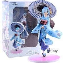 Anime re: zéro Re: la vie dans un monde différent de zéro bleu Rem Kawaii jouets mignons figurine modèle à collectionner jouet
