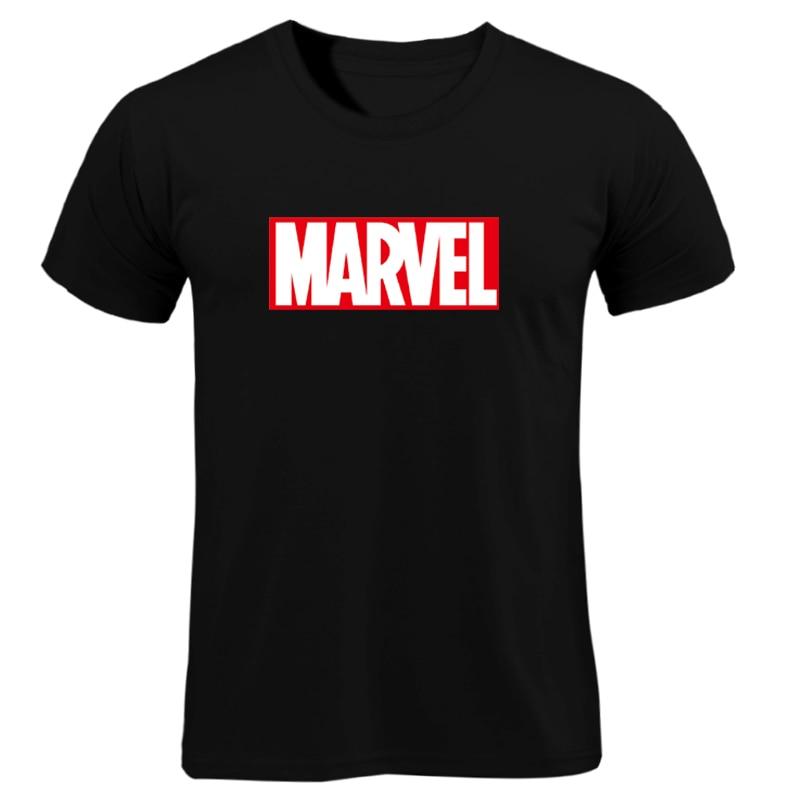 MARVEL   T  -  Shirt   2019 New Fashion Men Cotton Short Sleeves Casual Male Tshirt Marvel   T     Shirts   Men Women Tops Tees