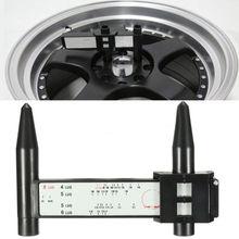 1 PCS מכונית כלים רכב אביזרי גלגל רכזת יד כלי 4 5 6 8 חורים נעל מדידת מד מכוניות גלגל hub PCD פלדה אביזרי צמיג