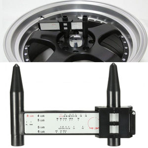 Image 1 - 1 PCS Car Tools Car Accessories Wheel Hub Hand Tool 4 5 6 8 Holes Lug Measuring Gauge Cars Wheel Hub PCD Steel Tyre Accessories