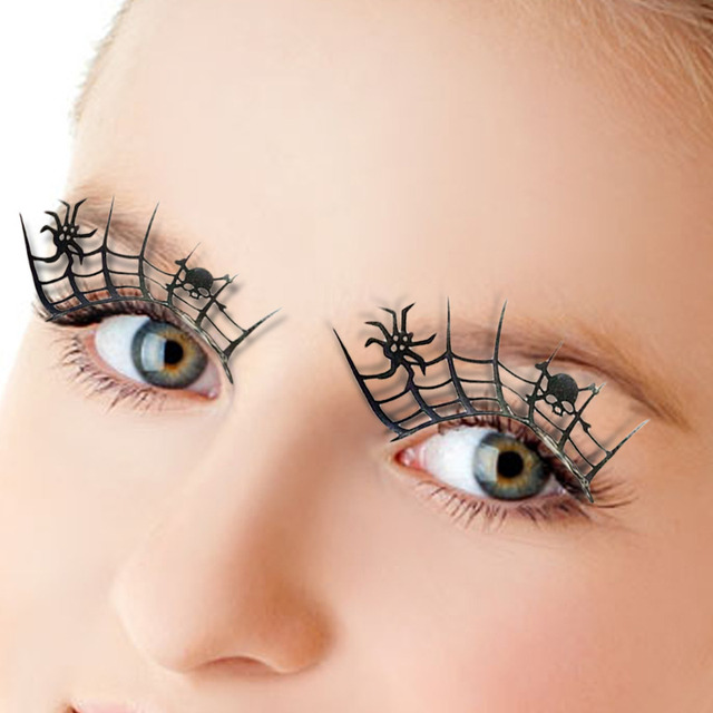f8734b0e317 1Pair Paper Cut Spider False 3d Lashes Beauty Cosplay Fake Eyelashes  Extension Designed Funny Scary Halloween