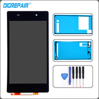For Sony Xperia Z2 L50W D6502 D6503 LCD Display Digitizer Touch Screen With Adhesive Tools Replacement