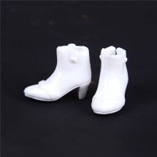 1 Pair White Shoes Doll Princess Shoes For Dolls High Heels Clothes Accessories Best Girls(China)