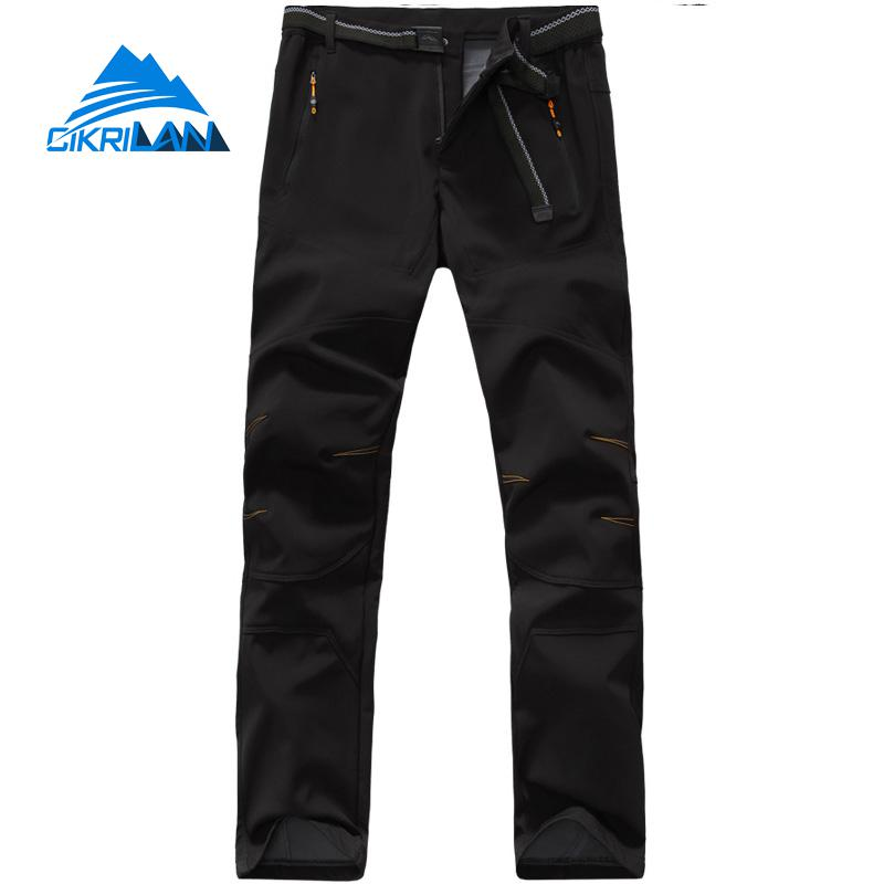 Mens Outdoor Sports Softshell Hiking Pants Men Climbing Camping Water Resistant Windstopper Trousers Pantalon Trekking Hombre