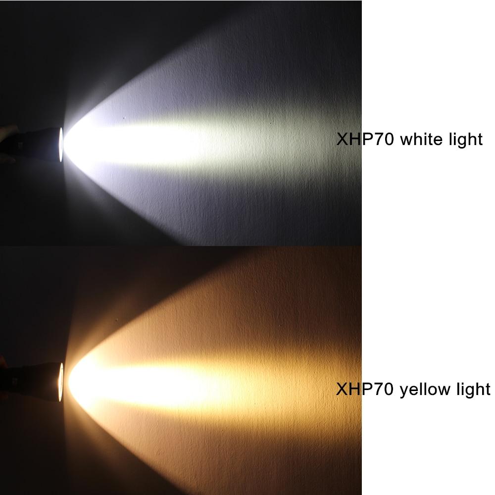 Lanternas e Lanternas brilho super cree xhp70 led Bateria : 26650