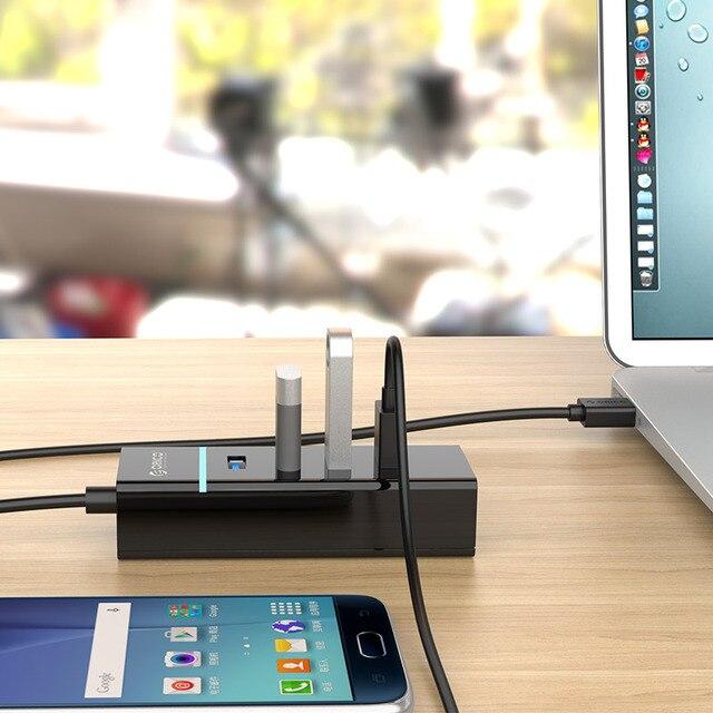 ORICO répartiteur USB 3.0 un glisser 4 ordinateur portable moyeu dextension haute vitesse moyeu multifonction