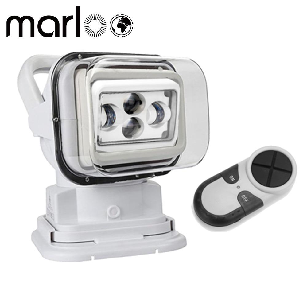 Marloo 4D 7 дюймов светодиодный поиск света 60 Вт светодиодный удаленного Управление морской светодиодный пятно света 4x4 фары 12/24 В для внедорожн