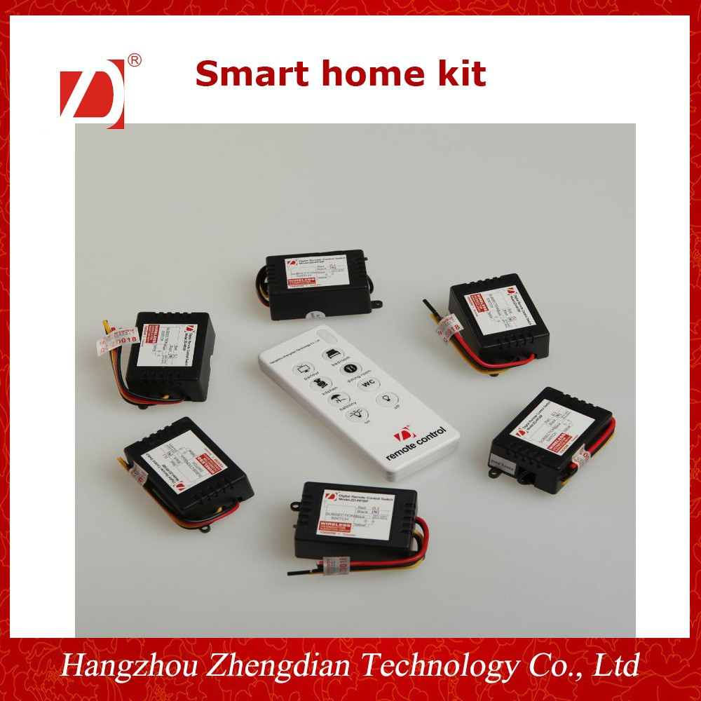 Wireless Smart Home Kit/ Remote Control Switch Wireless 433Mhz 100V-220V for Lights Free Shipping 1 Channel Receiver compatible remote control replaces for seip 433 rc am 433 92mhz dhl free shipping