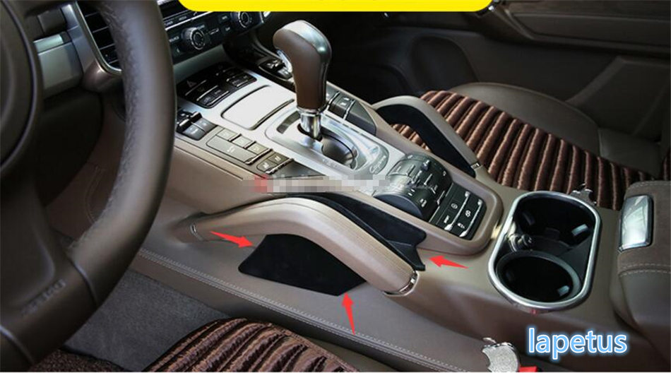 For Porsche Cayenne 2015 2016 Front Central Storage Box Decorative Cover Trim 1 pcs for mitsubishi outlander 2015 2016 2017 abs gear panel decorative cover trim 1 pcs accessories