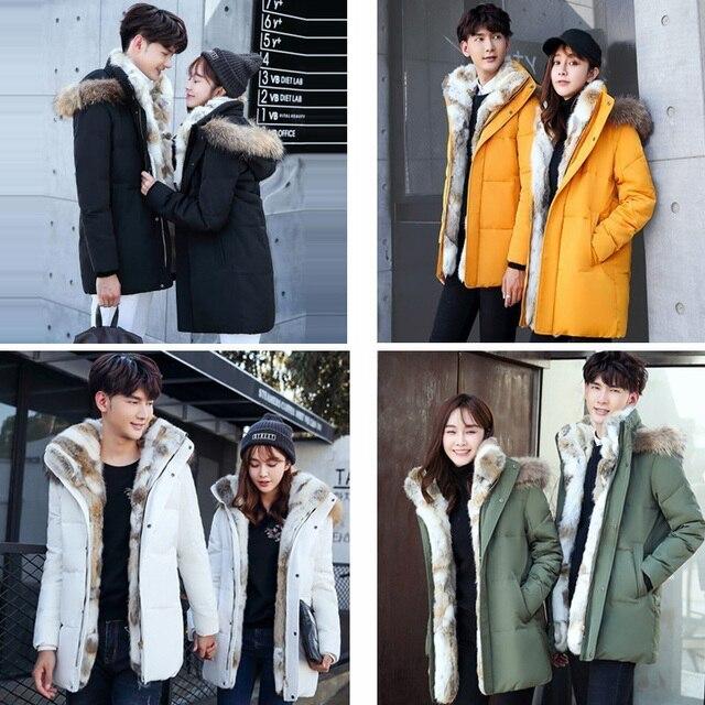 5XL White Duck Down Jacket 2019 Women Winter Goose Feather Coat Long Raccoon Fur Parka Warm Rabbit Plus Size Outerwear WJM19 6