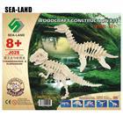 Wholesale 3D Diy Wooden Dinosaur Puzzles Games Toy Tyrannosaurus & Plesiosaur Educational Puzzle A Montessori IQ Toy Hobby Gift