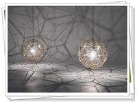 Tom dixon диаметр 38 см/46 см/56 см/65 см серебро/золото подвеска лампы Новый современный Роуз Глод Etch веб подвесной светильник XX38
