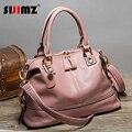 Free Shipping Hot Sale Women Leather Handbags Shoulder Crossbody Bags Genuine Leather Bag Bolsas Pink Black Blue S178