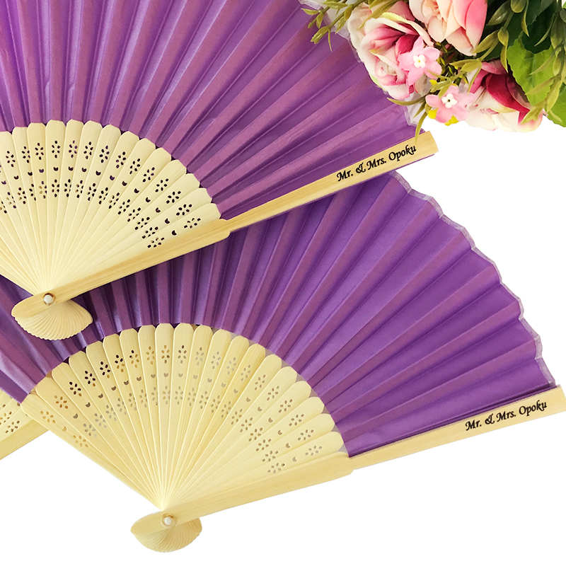 Personalized Silk Hand Fans