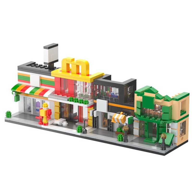 LuckyBoy 2700 Street view series Mini City model Intellectual toy For Children 39 s Gift in Blocks from Toys amp Hobbies