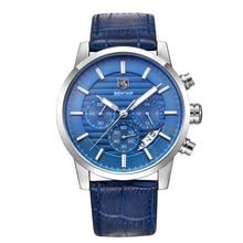 BENYAR Men Watches Brand Luxury Men Army Wrist Watches Steel Men Sports quartz Watch Waterproof Men's Watch blue