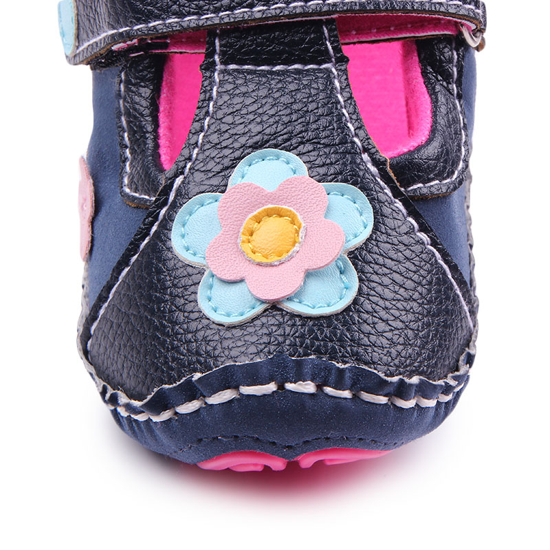 New Arrival Hign Quality TPR Sole Baby Girl Toddler Shoes Handmade Hook&Loop Kids First Walk Shoes 0-15 Months