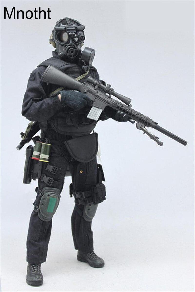 Mnotht 1/6 мужской Solider SWAT Снайпер костюм Комплект одежды военное оружие для 12in фигурку игрушки l30 Коллекционная модель подарок