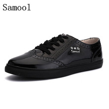 Осень Мужские туфли-оксфорды Британский Стиль Резные деловые туфли из натуральной кожи на шнуровке Буллок Мужская обувь на плоской подошве большой размер 35-47