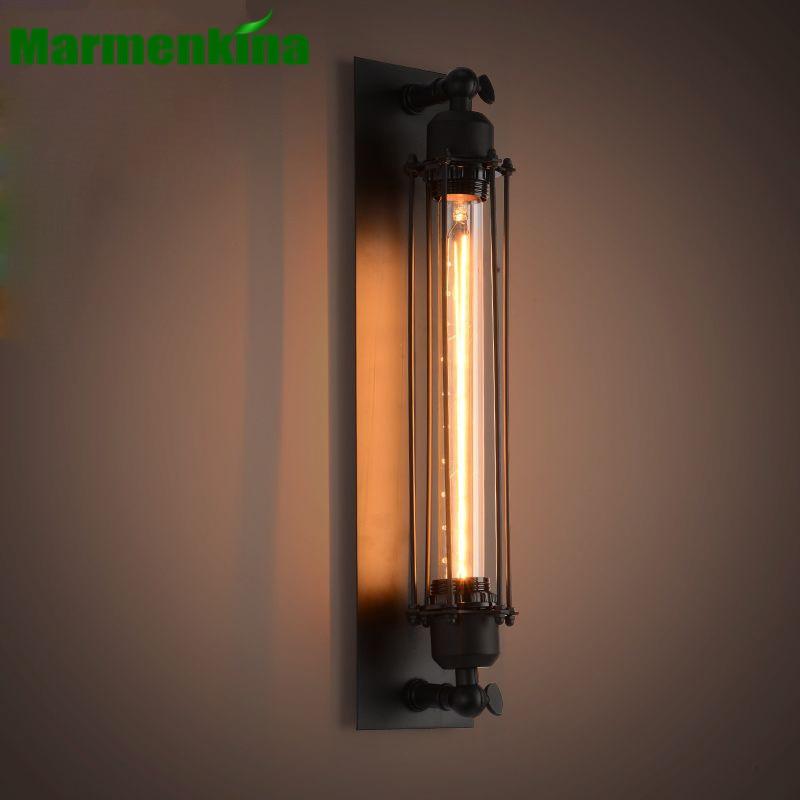 American retro industrial wind Edison Iron wand floss wall lamp creative bedside balcony stairs lighting AC 220V / 230V / 240V